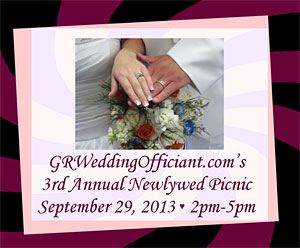 View PDF Invitation to the GRWeddingOfficiant.com Third Annual Newlywed Picnic